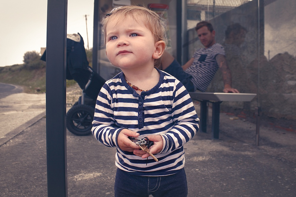Egle- child at busstop