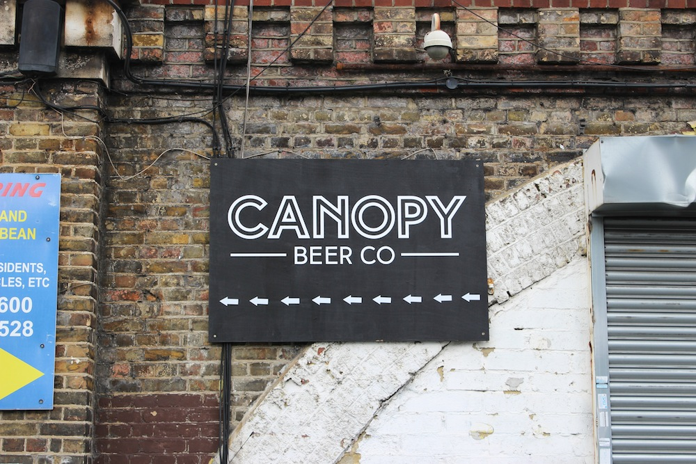 Canopy Beer Co Brewery sign