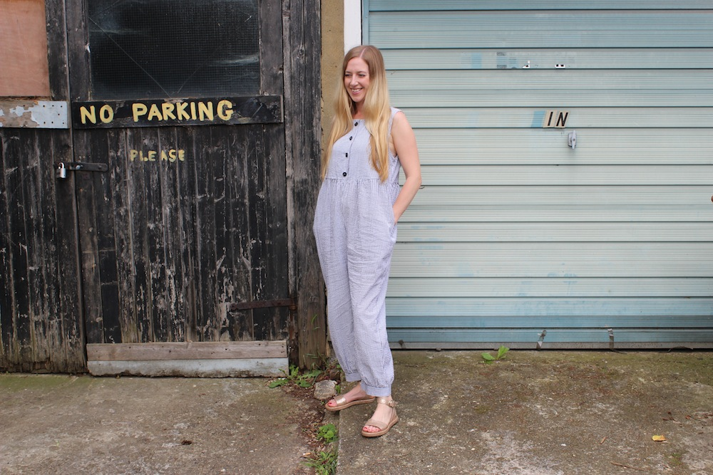 Clary and Peg jumpsuit - maternity clothes for early pregnancy - theearlyhour.com