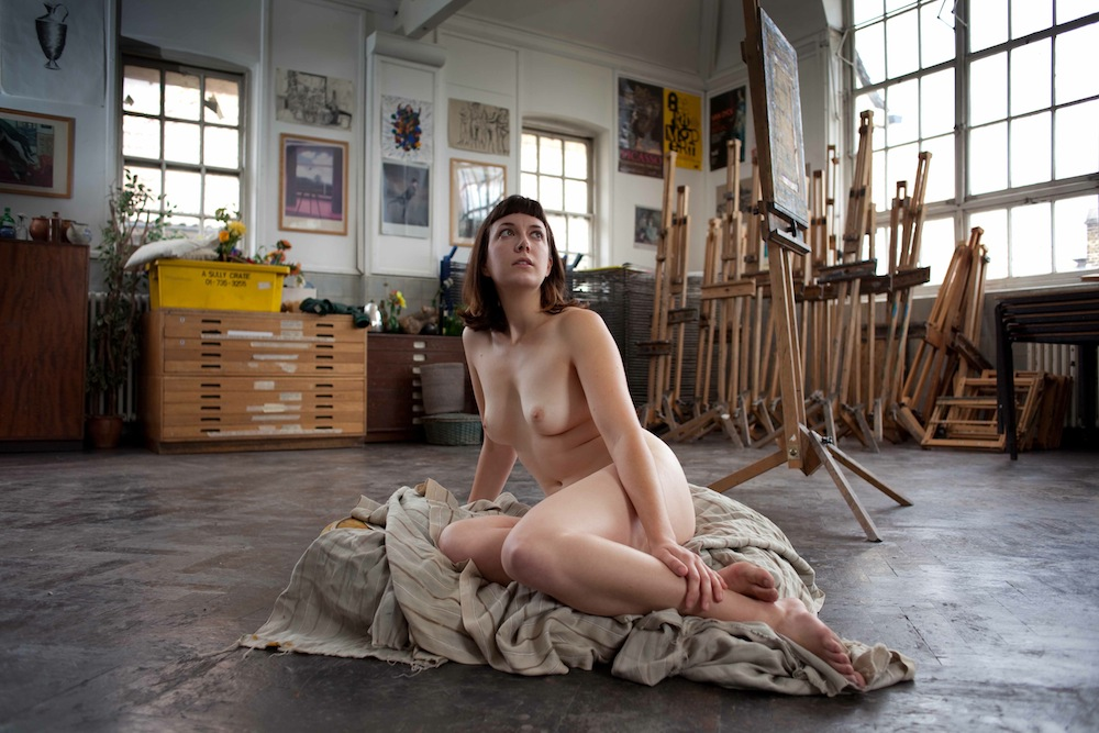 Art posing nude models