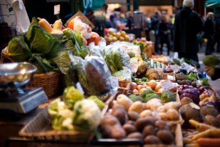 Borough Market Vegetable Stall - foodie spots in London by What Dad Cooked - theearlyhour.com